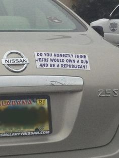 Do you honestly think Jesus would own a gun a be a Republican?