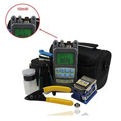 Zoostliss 8 In 1 Fiber Optic FTTH Tool Kit with FC6S Fiber Cleaver and 2 in 1 Optical Fiber Power Meter Visual Fault Locator * Click on the image for additional details.Note:It is affiliate link to Amazon.
