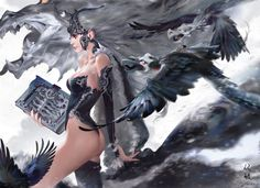 Witch, mingzhu yang on ArtStation at https://www.artstation.com/artwork/16NgG