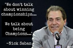 being Champions. . .