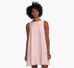 Rose Quartz | Pantone Color of the Year 2016 | A-Line Dress | by  Eclectic at HeART
