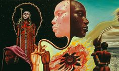 "Great painting by Mati Klarwein on one of my favorite albums of all time ""Bitches Brew"" by Miles Davis."