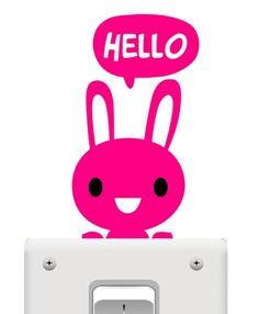 Light Switch Sticker - Pink Rabbit