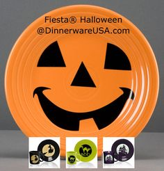 Fiesta Halloween is back! Check out Fiesta Pumpkin, Witch, Boo Cat and Spooky Haunted House now available at http://dinnerwareusa.com - Limited edition run Fall 2014, Supplies Limited, #FiestaHalloween #fiestapumpkin #fiestaware
