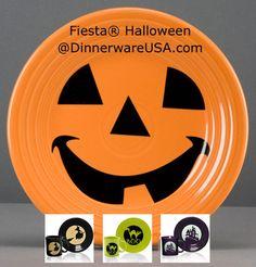 Fiesta Halloween is back! Check out Fiesta Pumpkin, Witch, Boo Cat and Spooky Haunted House now available at http://dinnerwareusa.com - Limited edition run Fall 2014, Supplies Limited, #FiestaHalloween #fiestapumpkin #fiestaware