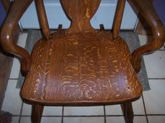 Ladies' Quartersawn Oak Empire Rocker Rocking Chair R46 | eBay