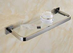56.09$  Watch here - http://alivyo.worldwells.pw/go.php?t=32381266519 - 30cm Stainless steel 304 bathroom glass shelf rack bath shower holder bathroom basket shower room suction wall shelf 56.09$