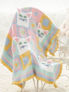 Kitty Blanket  - Free pattern - Too cute!  :)