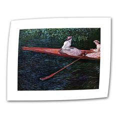 Canoe by Claude Monet Painting Print on Canvas