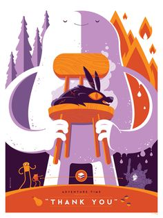 Adventure Time: Thank You by Tom Whalen : strongstuff illustration + design