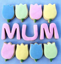 """Mum"" Mother's Day Biscuit Box"