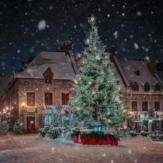 ❄ 20 Magical, Snowy, Animated Christmas Scenes To Start Getting You In The Holiday Mood — Style Estate Christmas Tree Gif, Christmas Scenery, Christmas Mood, Merry Little Christmas, Christmas Music, Christmas Images, Vintage Christmas, Holiday Mood, Christmas In The Country