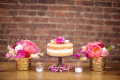 Love these colors.  A gorgeous mimosa bar bridal shower brunch on Showerbelle.