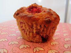 A raspberry oatmeal low fat muffin