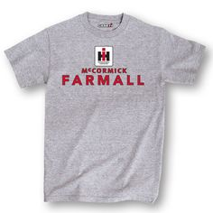Ih Square Logo Mccormick Farmall Stack Athletic Heather Men's T-Shirt
