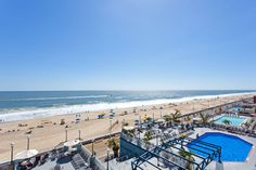 Great view of ocean and Ocean City boardwalk from oceanfront suite - Holiday Inn. Man I can not wait to be here in August with them fam! I'm like a little kid in their kiddie pool lol