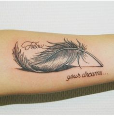 40 impressive feather tattoos ideas for men and women diy tattoo images - ta Feather Tattoo Design, Feather Tattoos, Forearm Tattoos, Body Art Tattoos, New Tattoos, Girl Tattoos, Small Tattoos, Tatoos, Tattoos With Birds