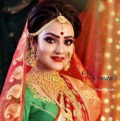 Indian Wedding Bride, Bengali Wedding, Bengali Bride, Bridal Wedding Dresses, Wedding Girl, Wedding Couples, Wedding Ideas, Bridal Makeup Pictures, Hd Bridal Makeup