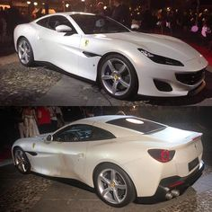 #FerrariFriday with the new Ferrari Portofino in white at the unveiling of the new prancing horse in Portofino (of course) #Ferrari #Portofino #FerrariPortofino