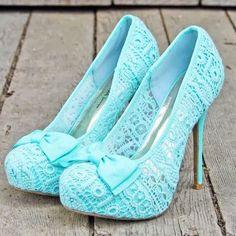Gorgeous Blue Lace Heels