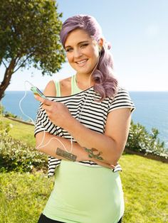 The April 2013 issue of Redbook shares Kelly Osbourne's story on how she learned to hula hoop, along with some helpful tips and notes on how it's contributing to her body improvements.  She had some lessons with a Hoopnotica master trainer. Hint: search Hoopnotica for instructors and classes in your area.