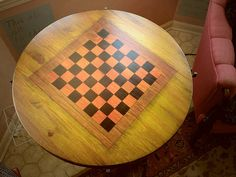 Painted Checkerboard Table | Flickr - Photo Sharing!