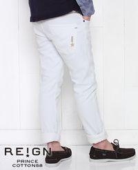 REIGN レイン ホワイト デニムパンツ PRINCE COTTON58