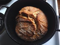How to Make No Knead Sourdough Bread in a Dutch Oven