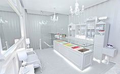 cookie store interior - talk about letting the product shine!