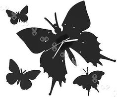 Black Butterfly Wall Clock Modern Living Room Stylish Artistic Quality