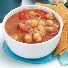Moroccan Bean Soup: Diabetes Forecast Magazine - Under 150 Calories per serving! For the complete healthy, low calorie recipe, simply click on the photo. ENJOY!