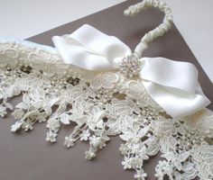 Pretty Lace Hangers.