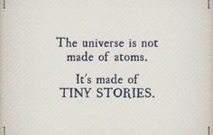 It's the stories that matter