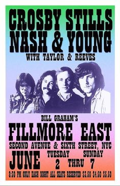 Rock N Roll Music, Rock And Roll, Soul Music, Art Music, Eric Clapton Unplugged, Illusion Pictures, Fillmore East, Rock Band Posters, Vintage Concert Posters