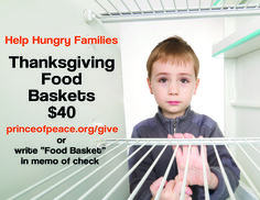 Help Hungry Families Thanksgiving Food Baskets $40