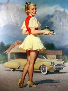Pin-up art by WIlliam Medcalf, 1950s