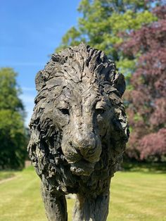 Bronze, signed, dated & numbered Lion Walking, Wild Lion, Sculptures, Lion Sculpture, Farm Barn, Outdoor Settings, Mark Making, Big Cats, Sculpting