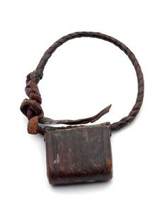 Africa | Leather amulet bracelet from Mozambique | 2nd half of the 19th century