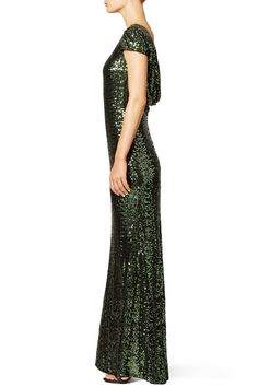 emerald green sequin dress with tulle