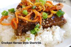 Crockpot Korean Style Short Ribs - Life Made Full