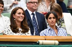 Kate and Meghan arrive to watch BFF Serena Williams fighting for eighth Wimbledon title