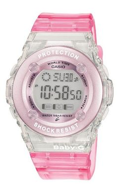 Casio BG-1302-4ER Baby-G Ladies Resin Strap Digital Watch: Casio: Amazon.co.uk: Watches