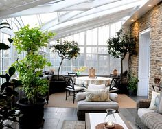 lovely greenhouse/sunroom.