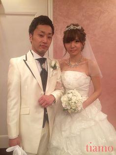 ティアラから花かんむりへ♡ゆる編み2スタイルご新婦様 の画像|大人可愛いブライダルヘアメイク『tiamo』の結婚カタログ