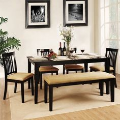 Elliot Bench 6PC Dinning Room Set Home Pinterest