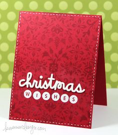 Holiday Card Series - Day 9 | tone on tone stamping and great shiny dimension with liquid enamel stuff