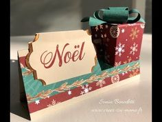 Tutorial - Name tag and its little chocolate box Fancy Fold Cards, Folded Cards, Stampin Up, 3d Paper Crafts, Napkin Folding, All Craft, Christmas Tag, Jingle Bells, Making Ideas