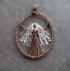 wire wrap jewelry Goddess/tree of life