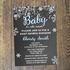 Baby Itu0027s Cold Outside Baby Shower Invitation   Modern, Snowflakes, Winter,  Pink, Blue, Gray, Printable, Digital | Snowflakes, Pink Blue And Outside  Baby ...