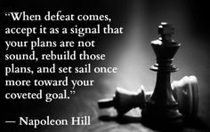 Napolean Hill's inspirational quote about failure.